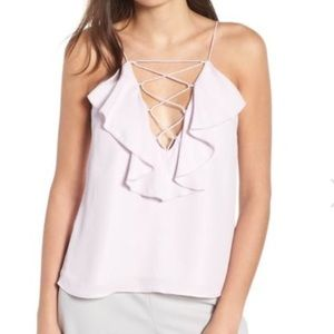 Lace ruffle cami, by WAYF from Nordstrom